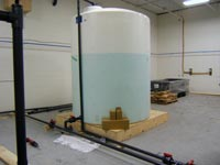 clean effluent in holding tank